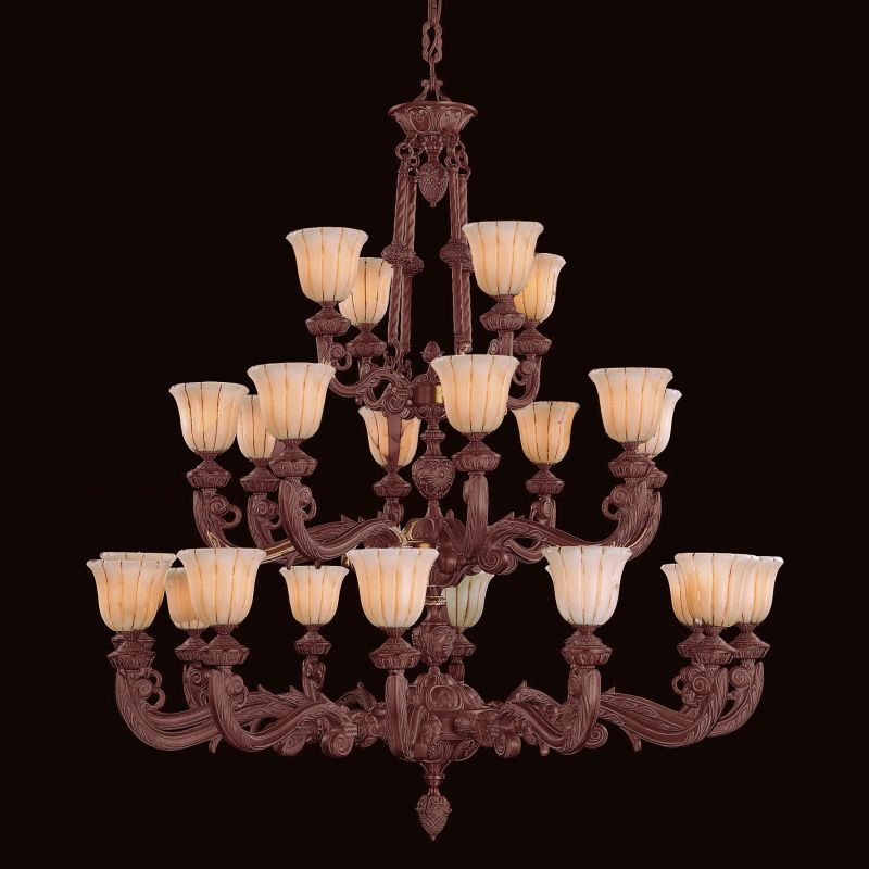 Crystorama Lighting Group 888-60 Natural Alabaster 24 Light Triple
