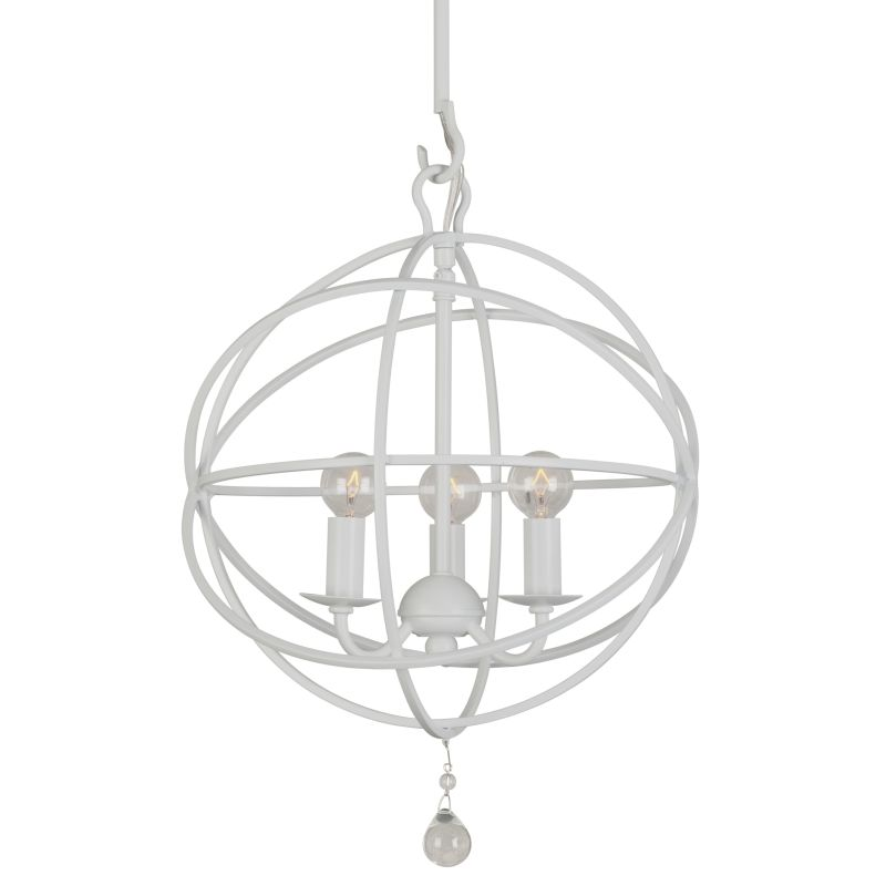 "Crystorama Lighting Group 9225 Solaris 3 Light 12"" Wide Wrought Iron"