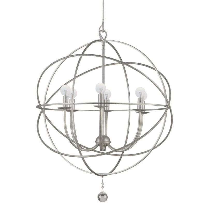 "Crystorama Lighting Group 9226 Solaris 6 Light 23"" Wide Wrought Iron"