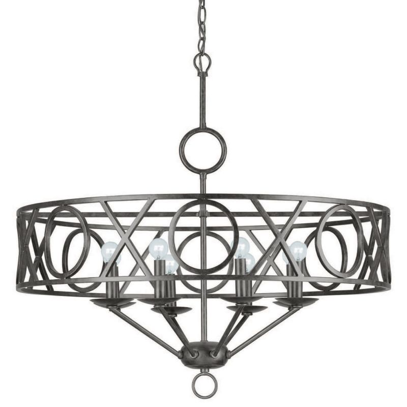 Crystorama Lighting Group 9248 Odette 8 Light 30&quote Wide Wrought Iron