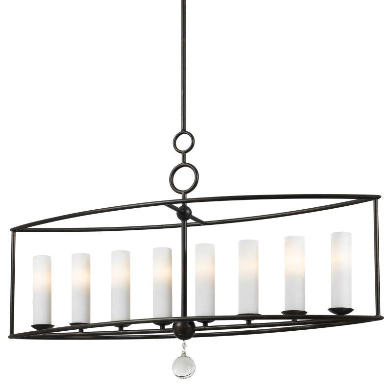 "Crystorama Lighting Group 9268 Cameron 8 Light 42"" Wide Wrought Iron"
