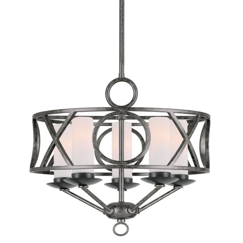 Crystorama Lighting Group 9445 Odette 5 Light 17&quote Wide Wrought Iron