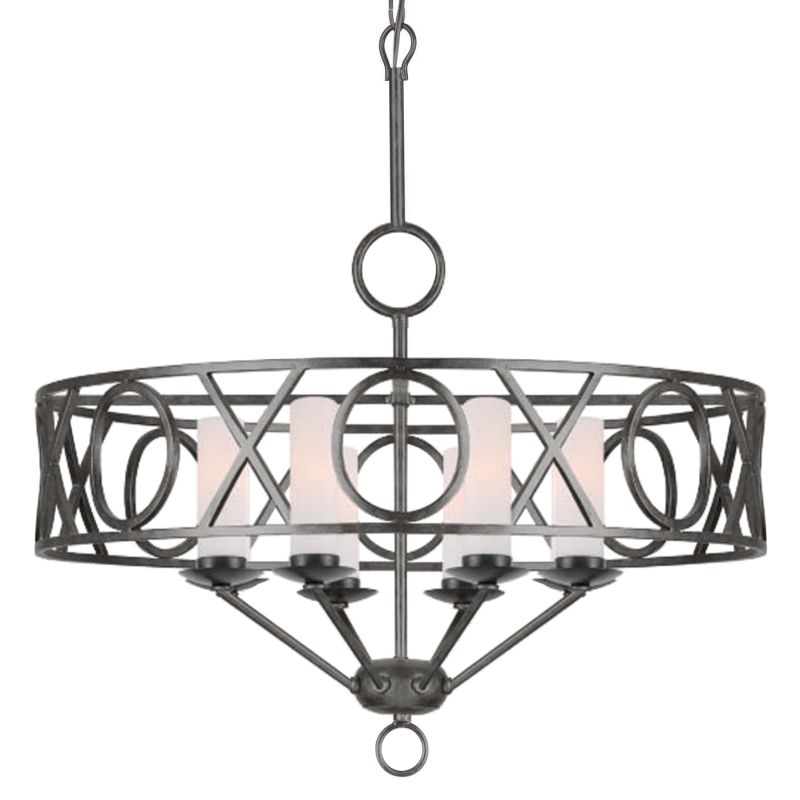 Crystorama Lighting Group 9448 Odette 8 Light 30&quote Wide Wrought Iron