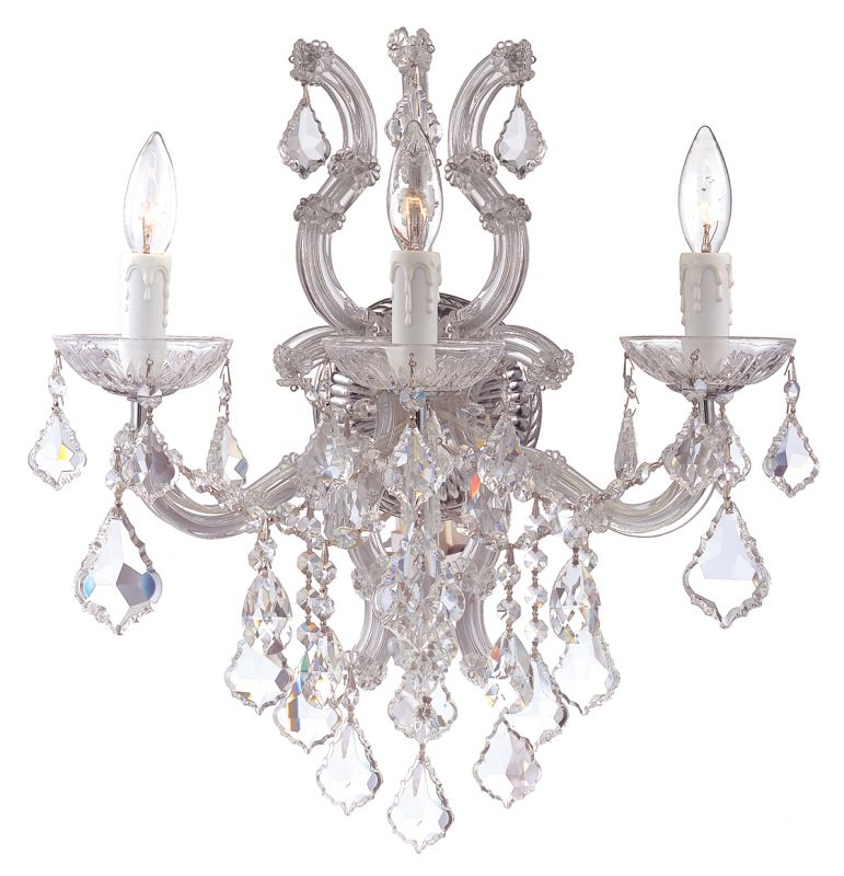 Crystorama Lighting Group 4433-CL Maria Theresa 3 Light Swarovski Sale $778.00 ITEM: bci1798524 ID#:4433-CH-CL-S UPC: 633779015366 :