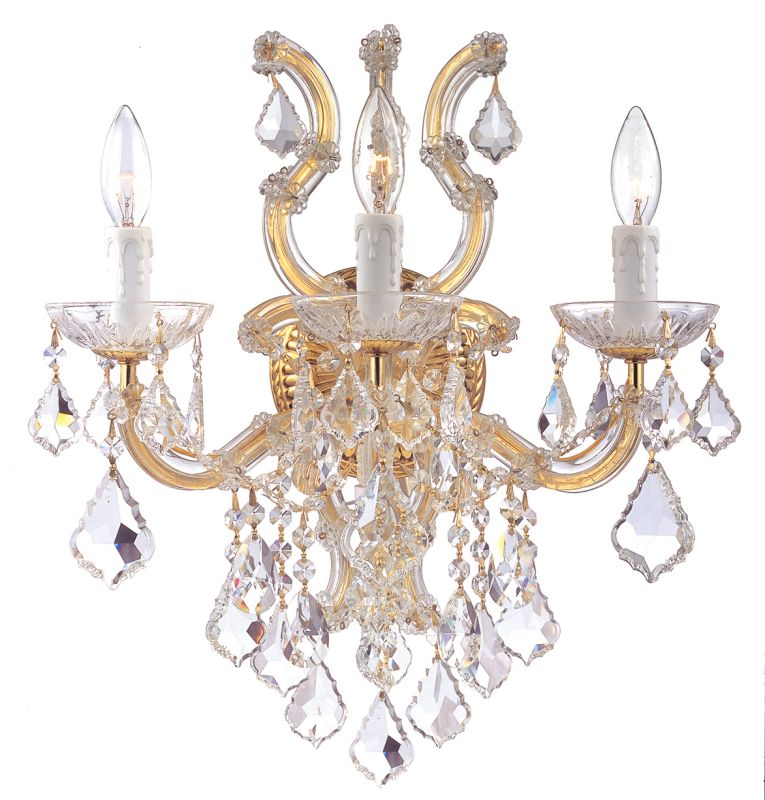 Crystorama Lighting Group 4433-CL Maria Theresa 3 Light Swarovski Sale $518.00 ITEM: bci1798526 ID#:4433-GD-CL-SAQ UPC: 633779015380 :
