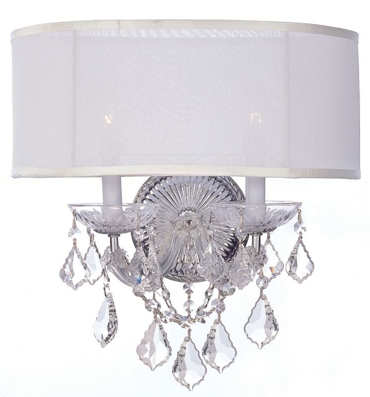Crystorama Lighting Group 4482-CL Brentwood 2 Light Crystal Wall
