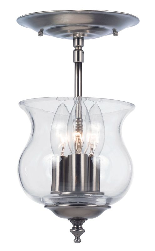 Crystorama Lighting Group 5715 3 Light Semi Flush Ceiling Fixture from