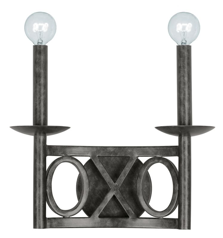 Crystorama Lighting Group 9242-EB Odette 2 Light Double Wall Sconce Sale $121.25 ITEM: bci1798571 ID#:9242-EB UPC: 633779014918 :