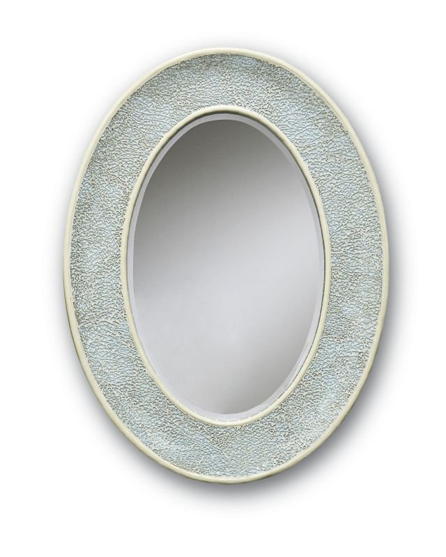 Currey and Company 1009 Egos Circular Glass Mirror Aqua Home Decor