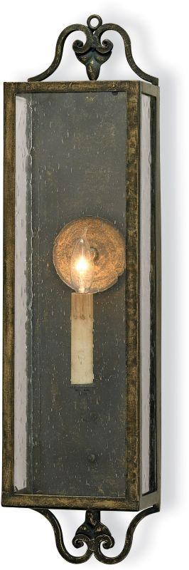 Currey and Company 5030 Wolverton Wall Sconce Bronze Verdigris Indoor