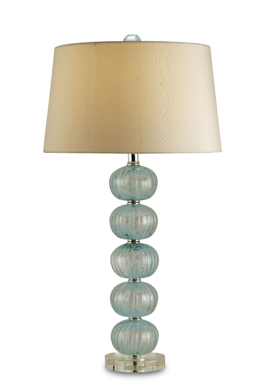 Currey and Company 6071 Asturias 1 Light Glass Table Lamp with Cream