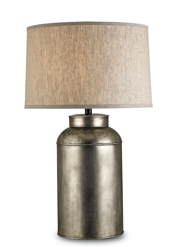 Currey and Company 6088 Pioneer 1 Light Steel Table Lamp with Off