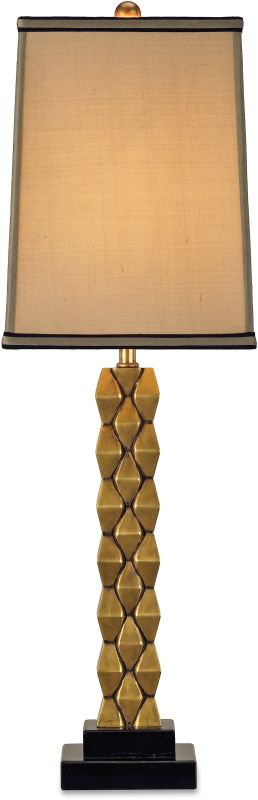 Currey and Company 6142 Debonair Table Lamp with Beige Shantung Shades