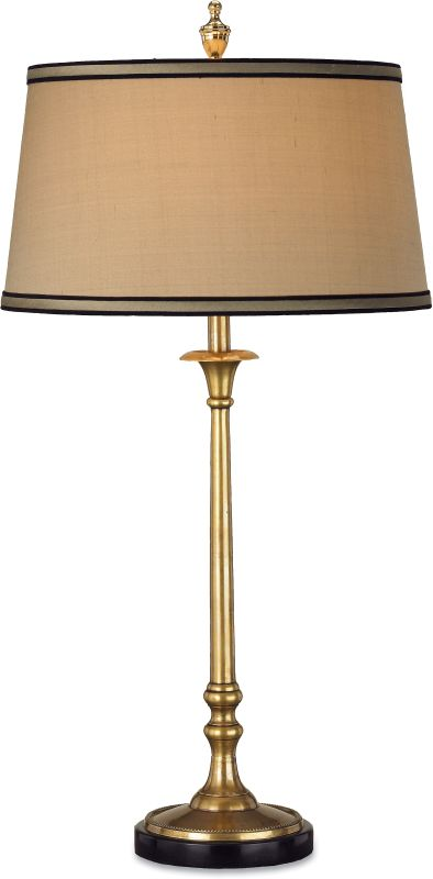 Currey and Company 6148 Suitor Table Lamp with Beige Shantung Shades