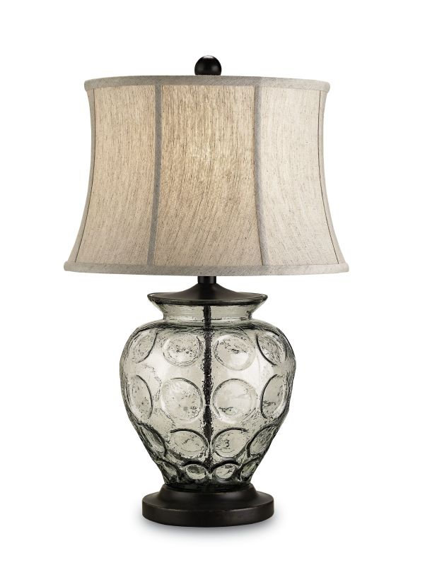 Currey and Company 6166 Vetro 1 Light Metal Table Lamp with Oatmeal