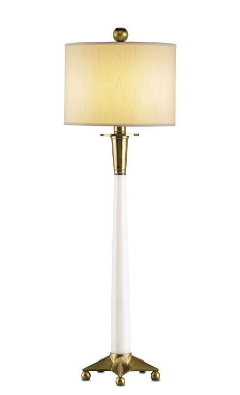 Vanity Light To Extension Cord : Currey and Company 6298 White / Brass Vanity Table Lamp with Off White Shantung Shade and Cord ...