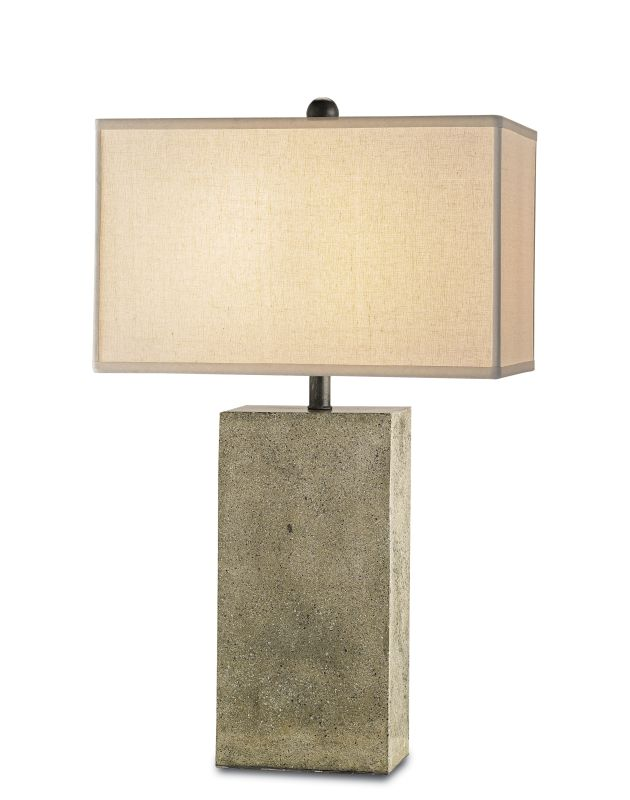 Currey and Company 6390 Symbol Table Lamp with Bone Linen Shade and