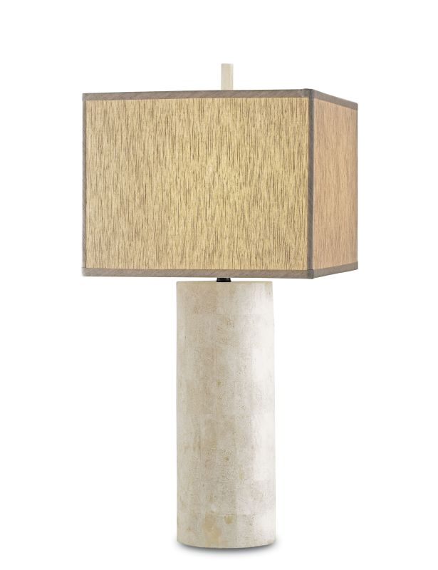 Currey and Company 6441 Vesta Table Lamp with Oatmeal Linen Shade and