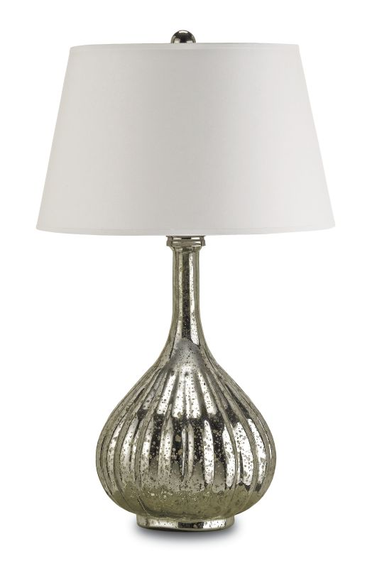 Currey and Company 6678 Libertine 1 Light Mercury Glass Table Lamp