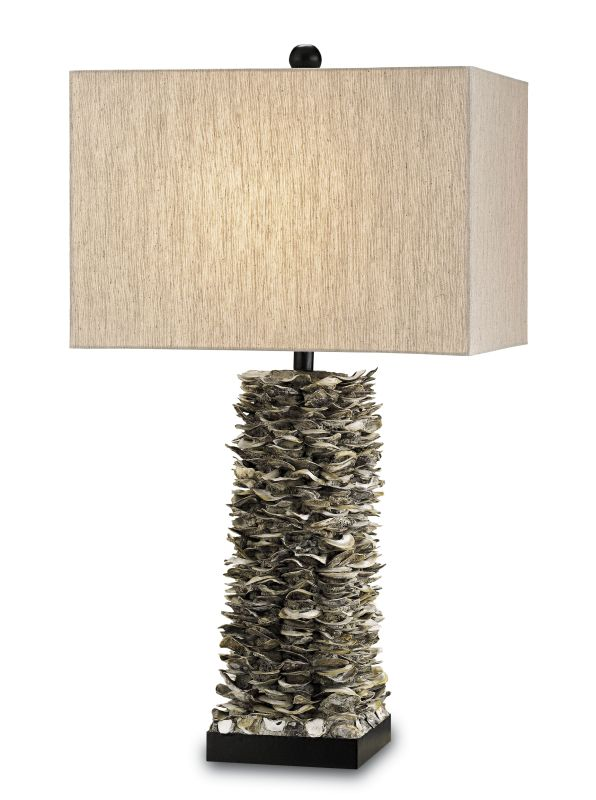 Currey and Company 6862 Villamare 1 Light Shell Table Lamp with