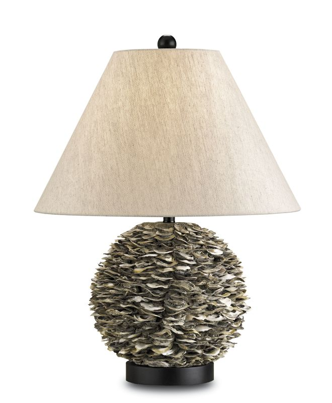 Currey and Company 6863 Amalfi 1 Light Shell Table Lamp with Oatmeal