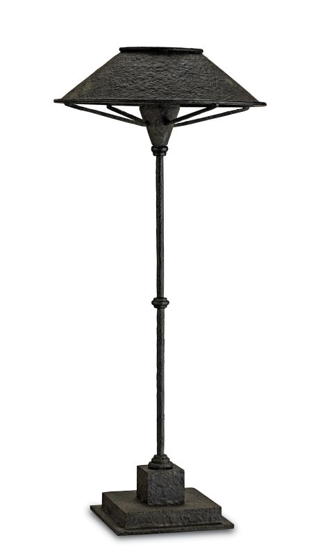 Currey and Company 6871 Manuscript 1 Light Wrought Iron Table Lamp