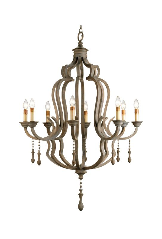 "Currey and Company 9010 Waterloo 59""H 8 Light Chandelier with Optional"