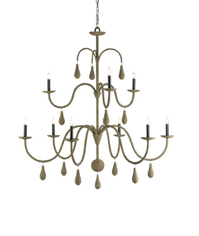 Currey and Company 9111 Bayside 9 Light Chandelier in Old Iron / Putty Sale $1740.00 ITEM: bci1378761 ID#:9111 :