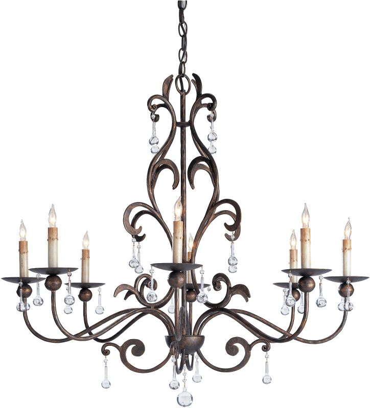 Currey and Company 9380 Pompeii Chandelier with Customizable Shades