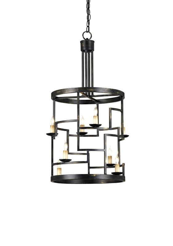 Currey and Company 9419 Spyro 8 Light Lantern in French Black Finish Sale $870.00 ITEM: bci1378774 ID#:9419 :
