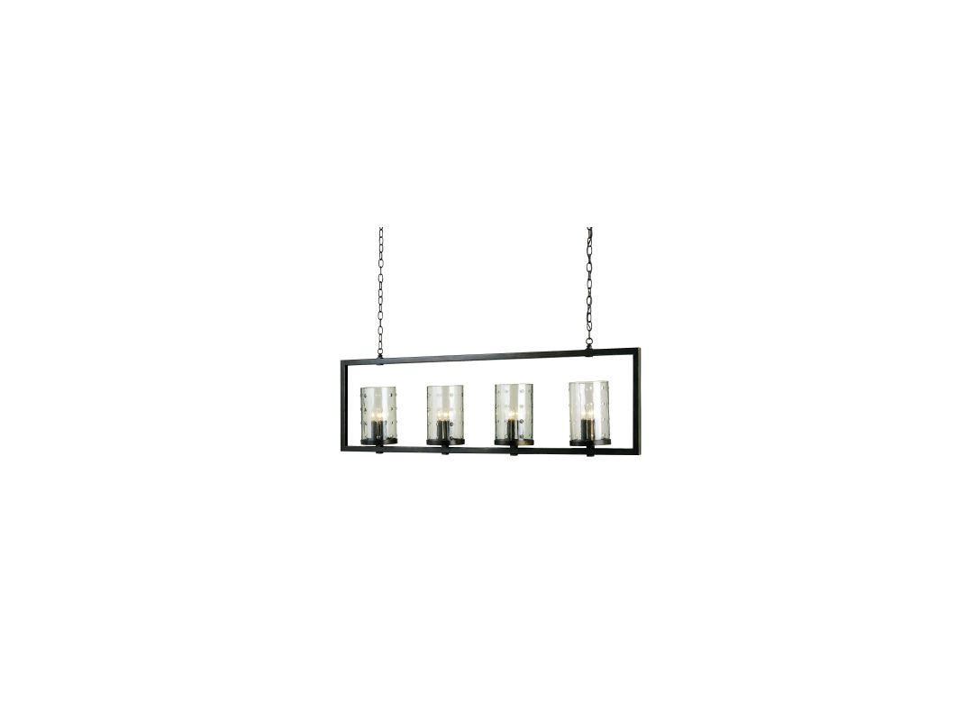 Currey and Company 9742 Bronze Gold Contemporary Longhope Chandelier