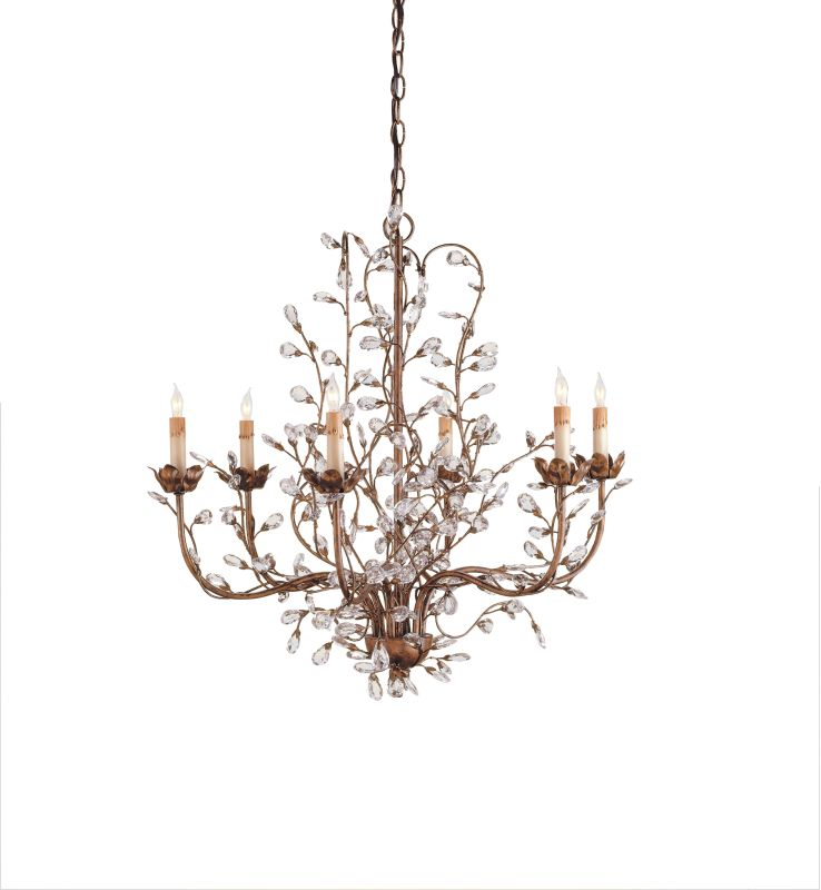 Currey and Company 9882 Crystal Bud Chandelier Medium with