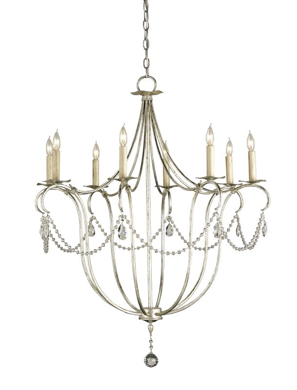 Currey and Company 9891 8 Light Single Tier Chandelier with