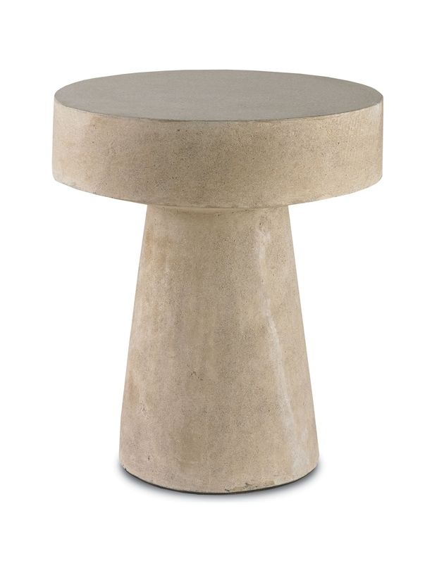 "Currey and Company 2025 Higham 24"" High Table Natural Furniture"