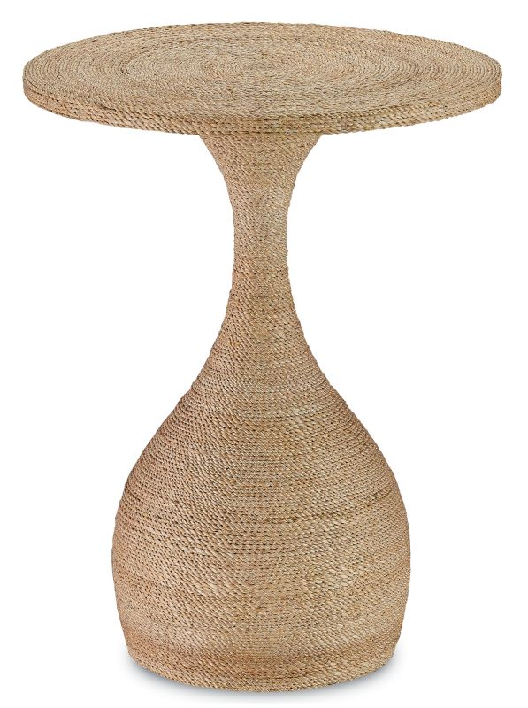 """Currey and Company 3000-0013 Simo 26"""" High Wood Accent Table with"""