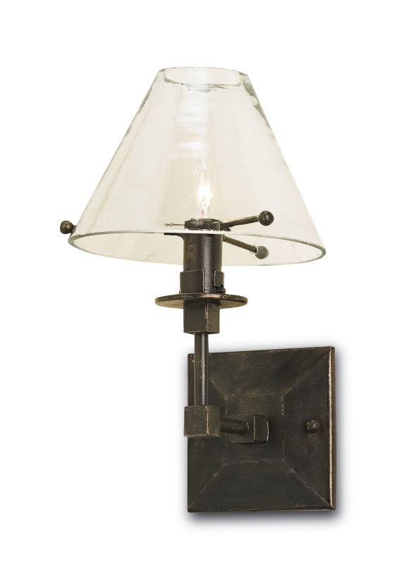 Currey and Company 5127 Bronze Gold Industrial Kiran Wall Sconce