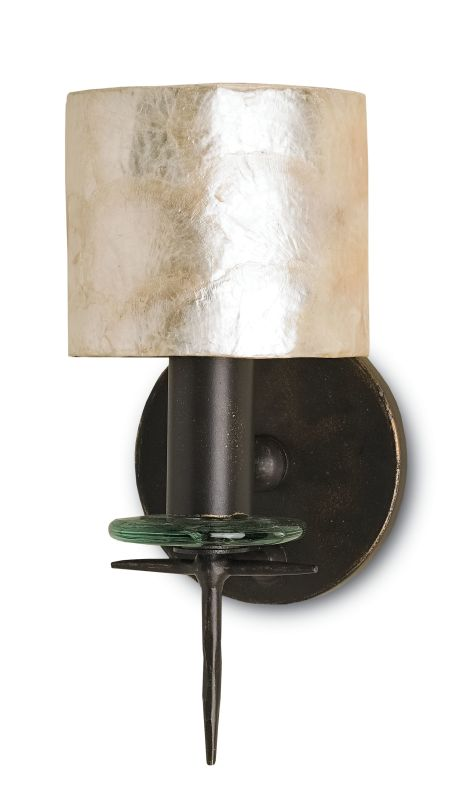 Currey and Company 5135 Theta 1 Light Wallchiere Wall Sconce Bronze