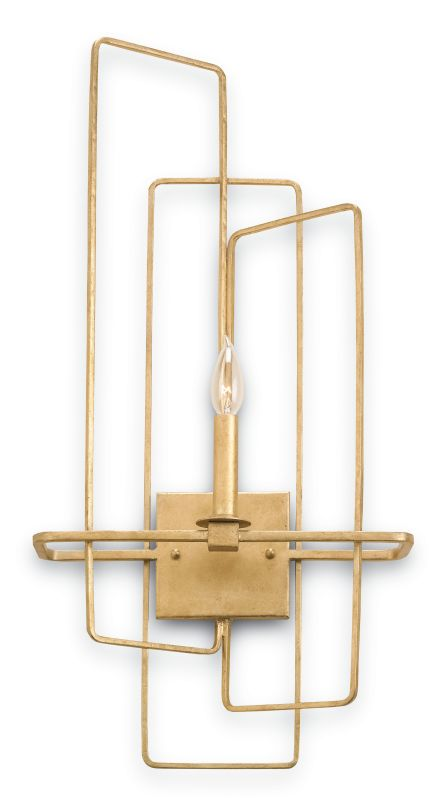 Currey and Company 5164 Metro 1 Light Candle Style Wall Sconce Gold