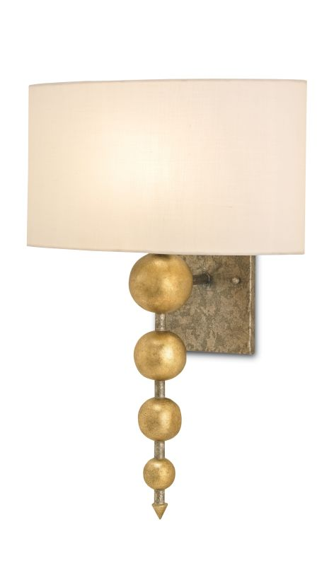 Currey and Company 5175 Stillman 1 Light Wall Sconce with Off White