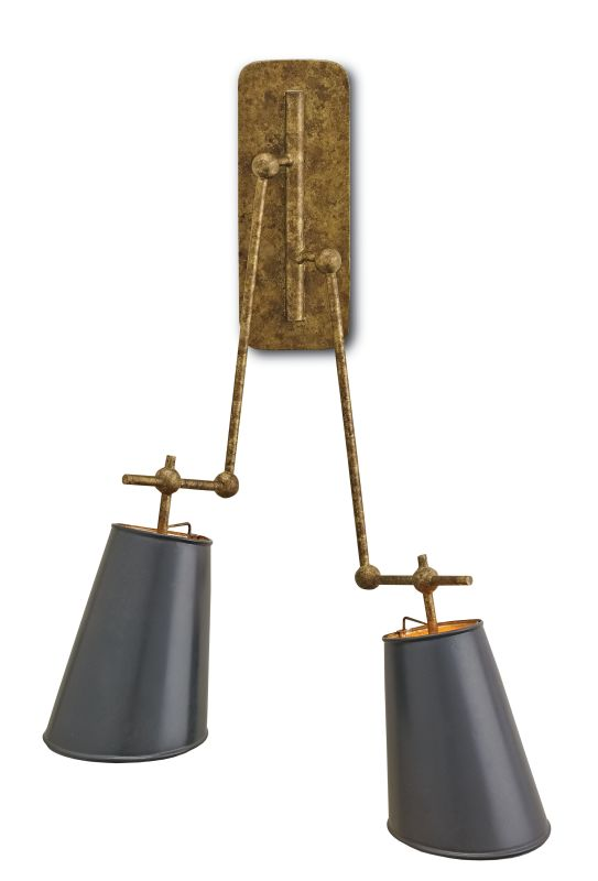 Currey and Company 5176 Jean-Louis 2 Light Wall Sconce Old Brass /