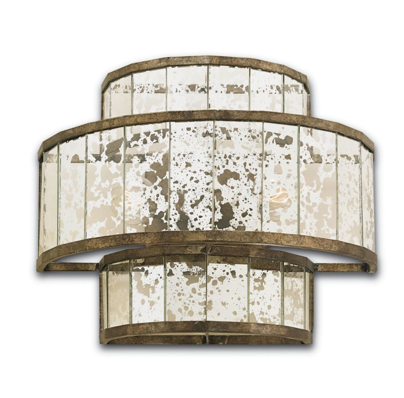 Currey and Company 5193 Fantine 2 Light Wall Sconce Pyrite Bronze /