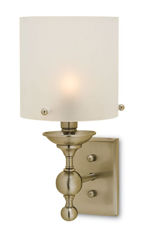 """Currey and Company 5198 Pennsbury 7"""" Wide Wall Sconce Polished Nickel"""