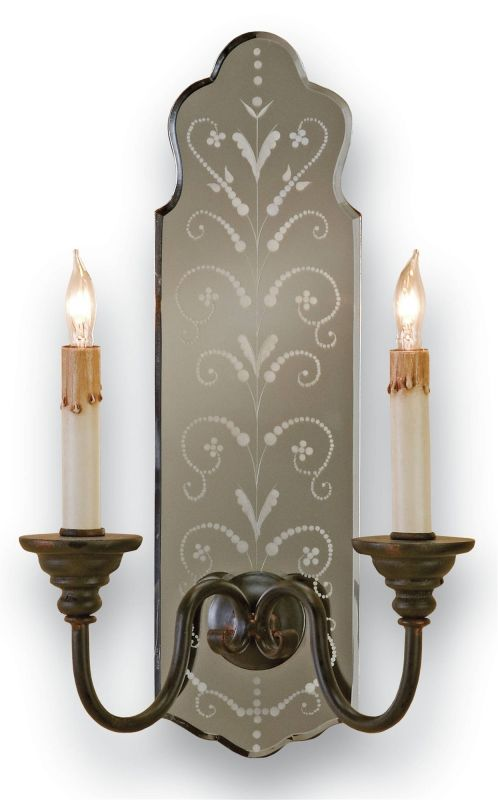 Currey and Company 5403 Antonio Wall Sconce with Customizable Shades