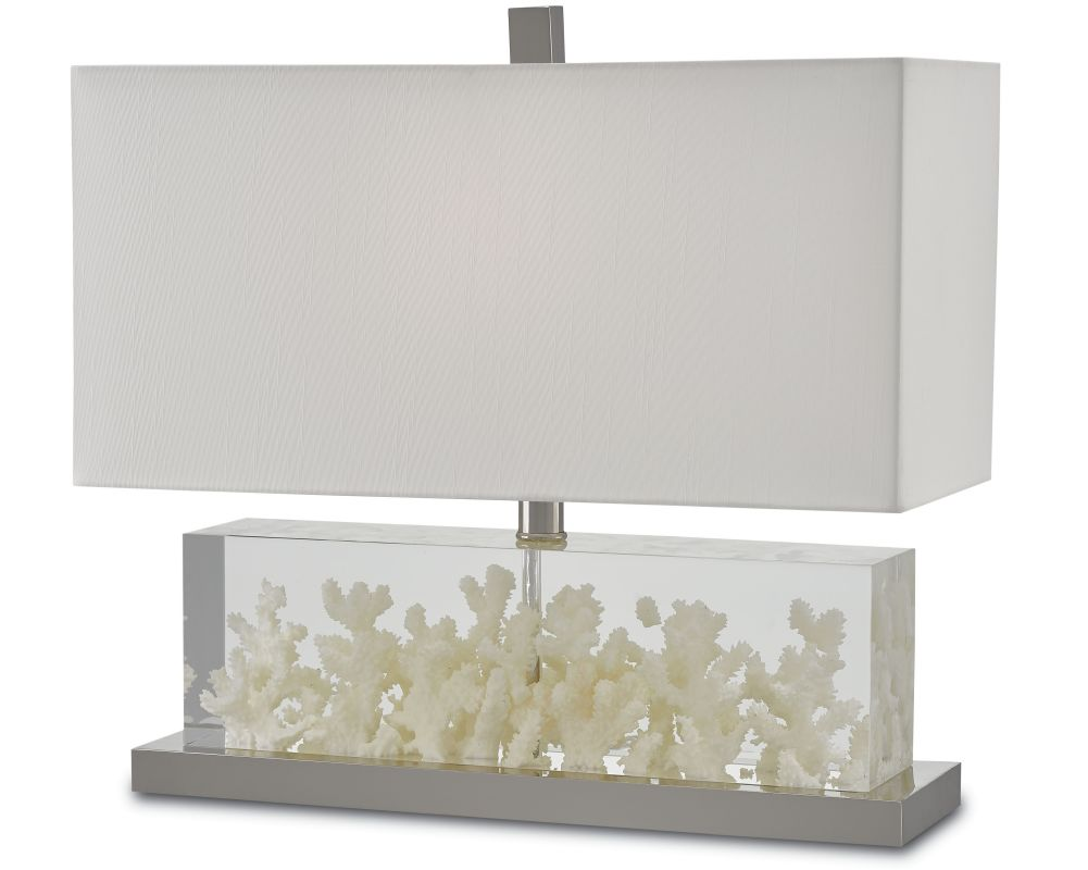 """Currey and Company 6000-0029 Raine Single Light 18"""" Wide Accent Lamp"""