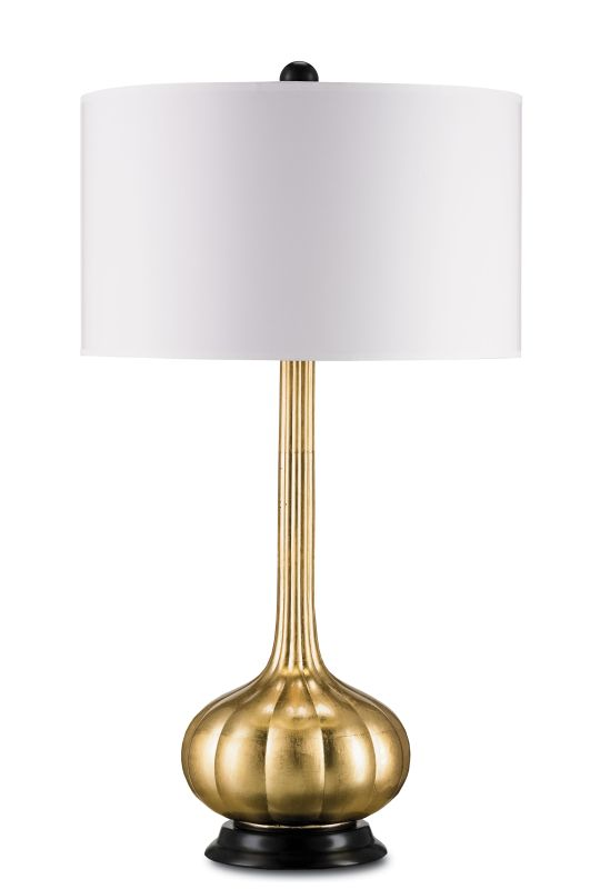 Currey and Company 6129 Ballet 1 Light Table Lamp Contemporary Gold