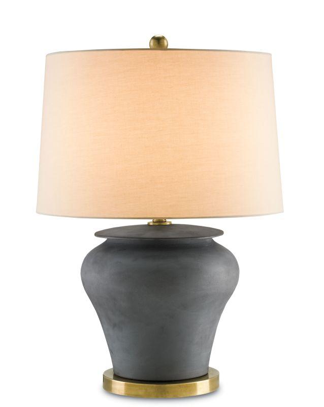Currey and Company 6249 Winkworth 1 Light Flat Black Table Lamp Flat