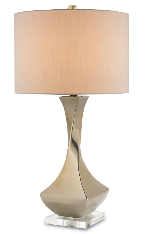 Currey and Company 6278 Swoon 1 Light Table Lamp with Eggshell
