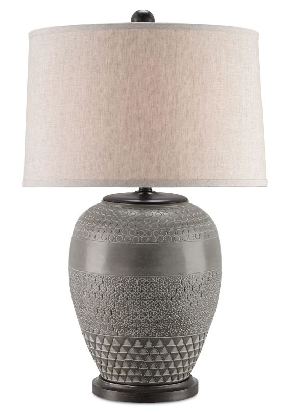 Currey and Company 6535 Sojourn Table Lamp with Sepia Brown Silk