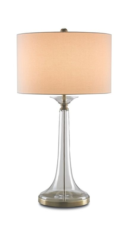 "Currey and Company 6635 Grandview 1 Light 33"" High Table Lamp Clear"