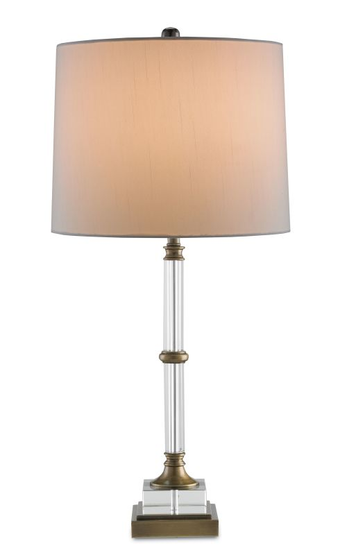 """Currey and Company 6653 Curio 1 Light 30"""" High Table Lamp Brass Lamps"""